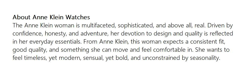 About Anne Klein