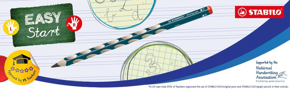 STABILO, teacher, pupils, EASYgraph, learning to write, school, left handers, pencil case, pencil