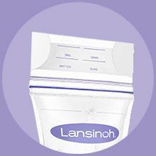 Lansinoh Pre sterilised breastmilk storage bags