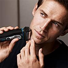 Braun Series 9 Electric Shaver for Men with Charging Stand and Travel Case, 9242s, Black/Eloxal Blue