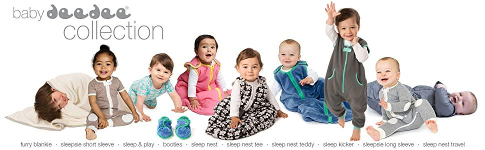 baby sleep gear, bedding, pajama, sleep nest, sleepsie, sleep kicker, camping