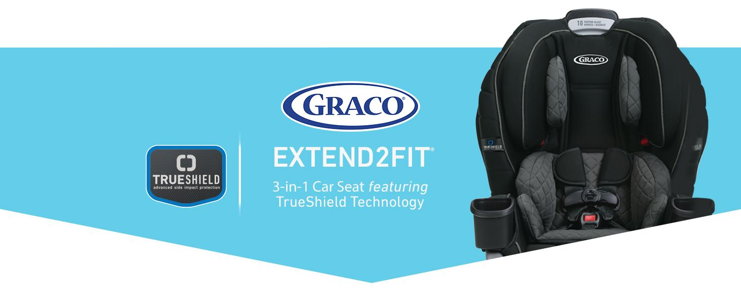 Graco Extend2Fit 3-in-1  Car Seat Featuring TrueShield Side-Impact Protection