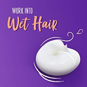 Work into wet hair