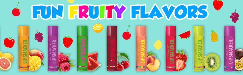 fun fruity flavors of lip smackers