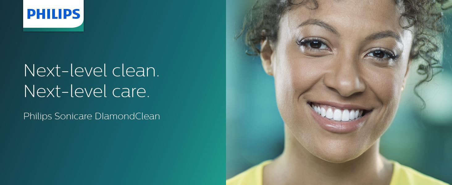 Philips Sonicare DiamondClean. Next-level clean. Next-level care.