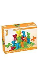 peg, build, stack, color, preschool, educational