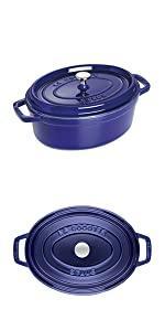 Staub oval cocotte blue