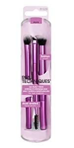 real techniques makeup brush sponge beauty blender foundation face case eyeshadow blush