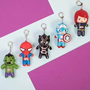 super hero keychain lip balms
