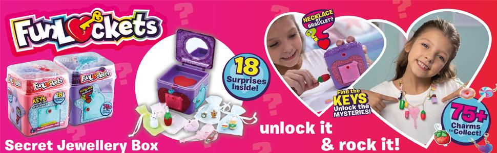 Funlockets, Girls Toys, Toys, Collectable Toys, Jewellery Box, Toys for Girls, Christmas Toys