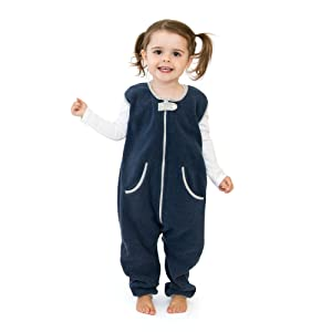 sleep kicker wearable blanket with feet toddler warm playsuit