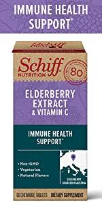 Schiff Elderberry Extract packshot, immune health support