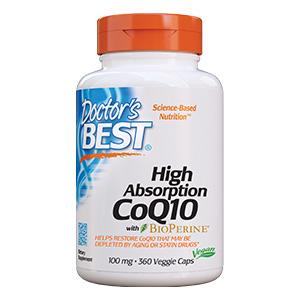 High Absorption CoQ10 Restore CoQ10 that may be depleted by aging of statin drugs energy heart