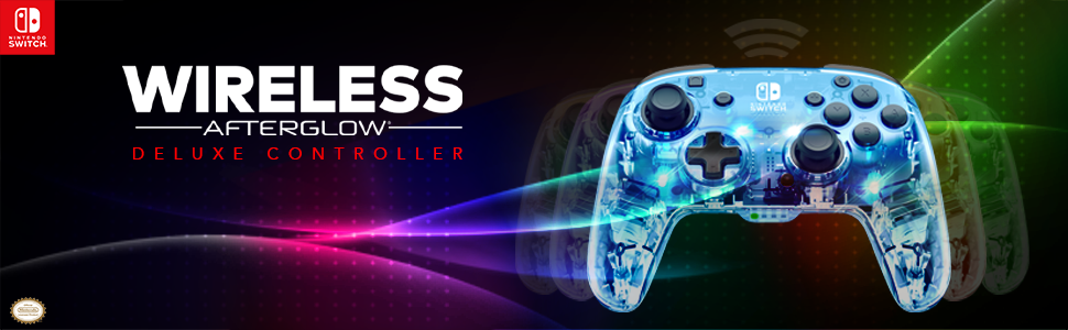 PDP Wireless Afterglow Deluxe Switch Controller